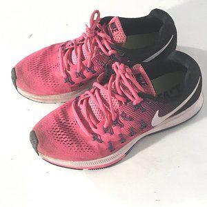 NIKE Womens Run Running Pink Black Shoes Sneakers